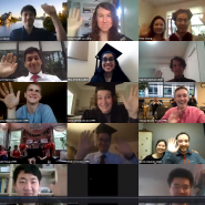 IDSS grads in a Zoom gallery